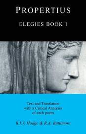 Elegies: Bk.1 by Sextus Propertius