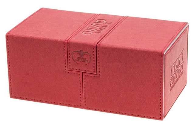 Ultimate Guard: 200+ XenoSkin Twin Flip'n'tray Deck Case (Red)