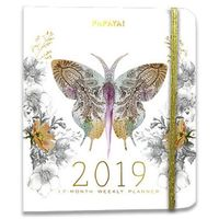Papaya: Paisley Butterfly 2019 Weekly Planner