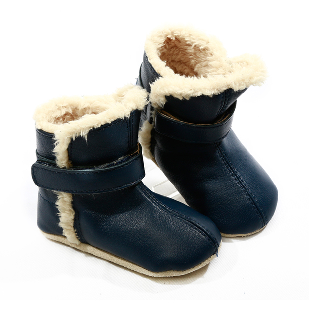 Skeanie: Pre-Walker Snug Boots Navy - Large