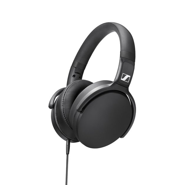 Sennheiser HD 400S Wired Over-Ear Headphones with Mic - Black