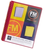 FM A4 Insert Cover Refillable Display Book - Red