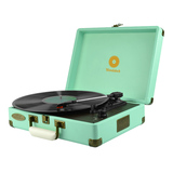 mBeat Woodstock Retro Turntable Player – Tiffany Blue