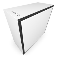 NZXT H700 Premium Mid Tower Case with Tempered Glass - Matte White