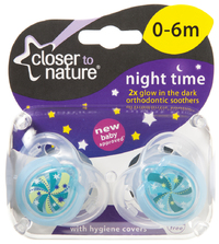 Closer to Nature Night Time Soother 0-6 Months (Galaxy) - 2 Pack image
