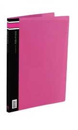 FM A4 20 Pocket Vivid Display Book - Shocking Pink