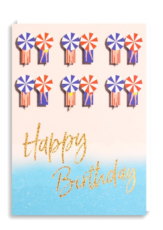 Nineteen Seventy Three: Happy Birthday Loungers - Greeting Card image