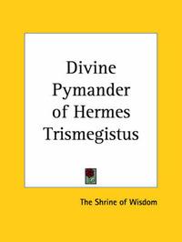 Divine Pymander of Hermes Trismegistus (1923) image