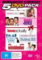 Romantic Comedy 5 DVD Pack (Bridget Jones Diary / Edge Of Reason / Love Actually / Notting Hill / Wimbledon) (5 Disc Set) on DVD