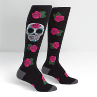 Womens - Sugar Skull Knee Socks