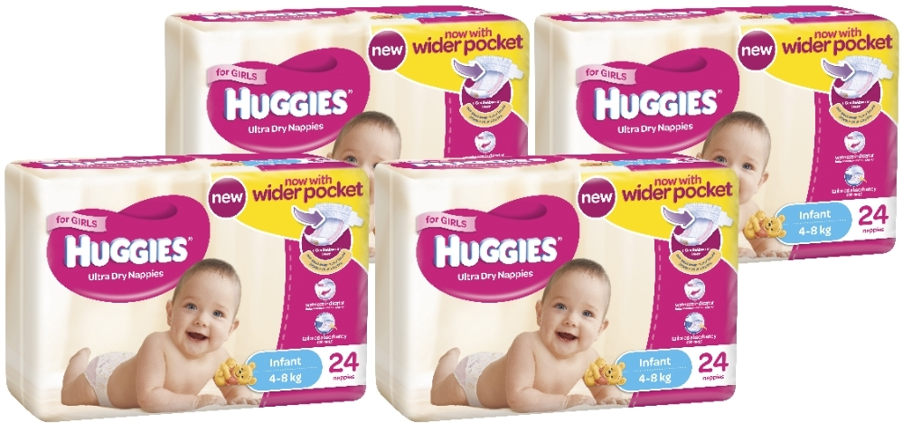 Huggies Ultra Dry Nappies Convenience Shipper: Infant Girl 4-8kg (96) image
