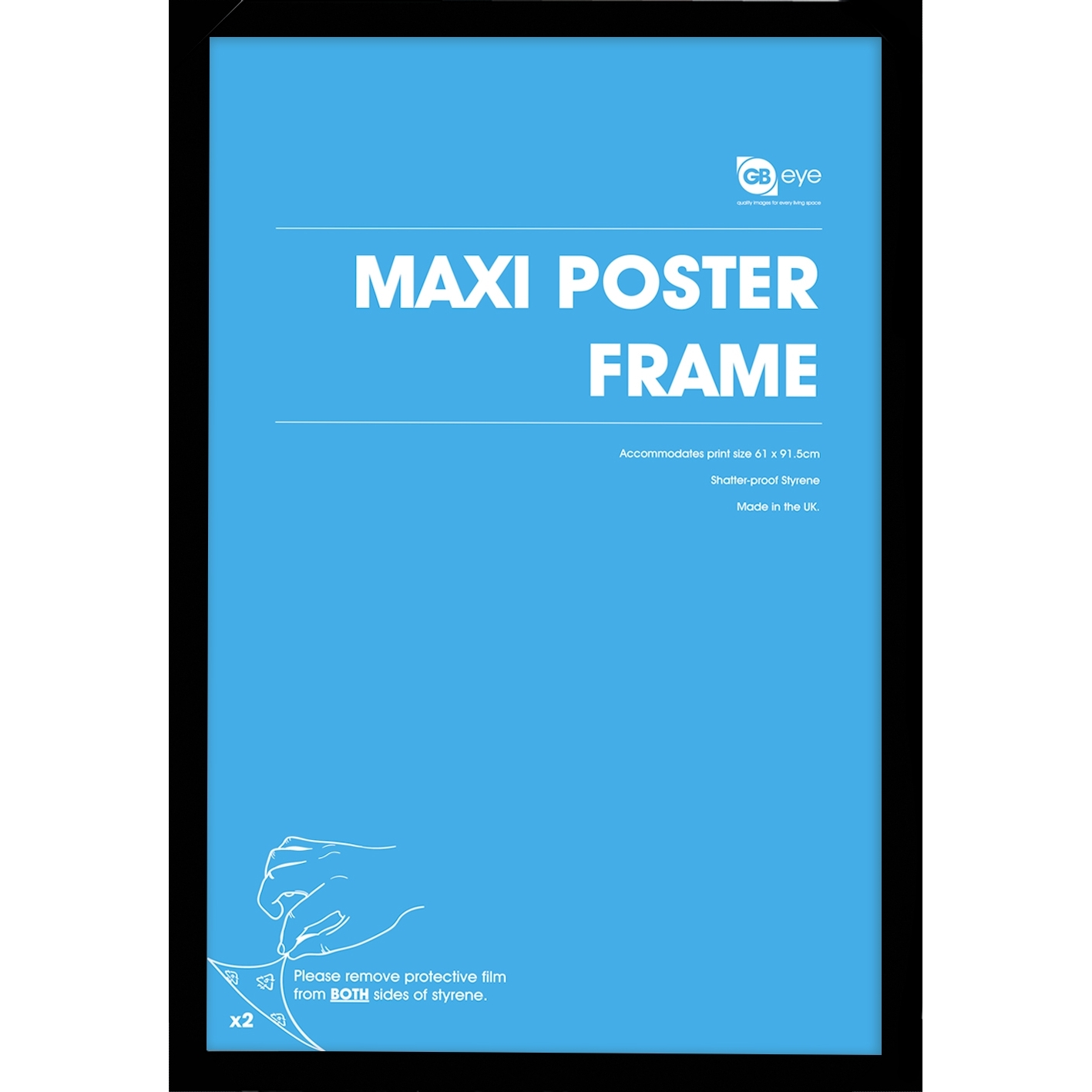 maxi poster frame black at mighty ape australia