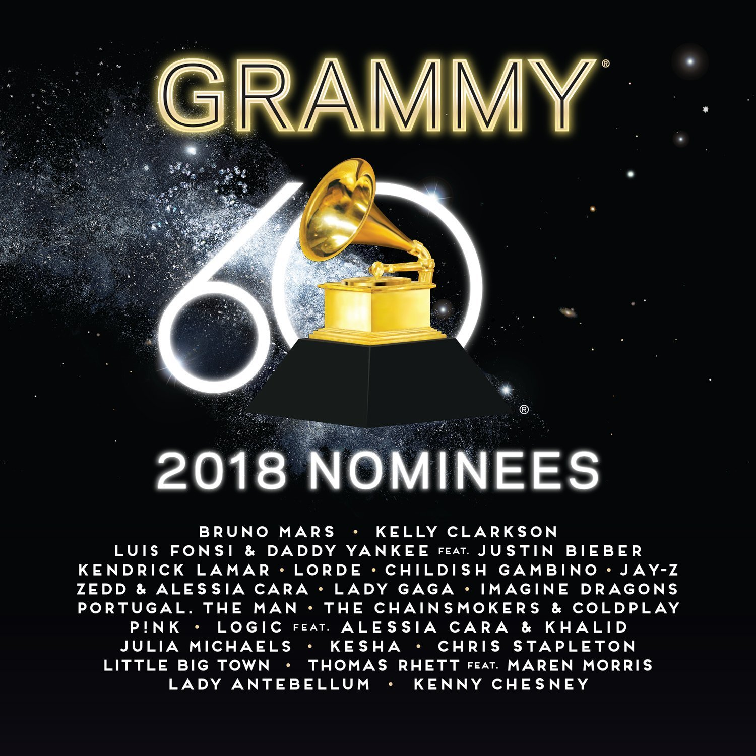 2018 Grammy Nominees by Various Artists image