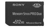 Sony MSXM512SX Memory Stick Pro Duo 512MB