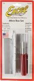 Excel Aluminium Mitre Box and Razor Saw Set (3pc)