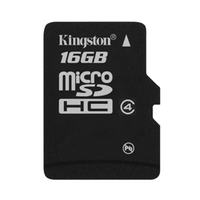 16GB Kingston - MicroSDHC Card with SD Adapter (Class 4) image