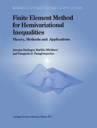 Finite Element Method for Hemivariational Inequalities