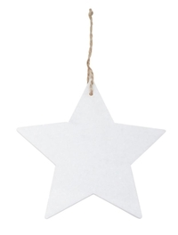 Cina Marble Star Decoration - White (17cm)