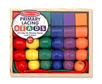 Melissa & Doug: Primary Wooden Lacing Beads image