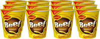 Maggi 2 Minute Cup Noodles - Beef (58g x 12 Packs)