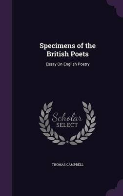 Specimens of the British Poets by Thomas Campbell image