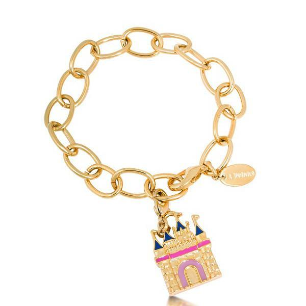 Couture Kingdom: Disney - Castle Charm Bracelet (Yellow Gold)