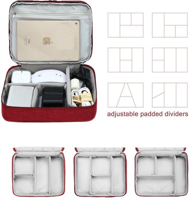 Three-layer Electronic Storage Bag - Red
