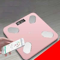 Bluetooth Body Fat Weighing Scale - Soft Pink