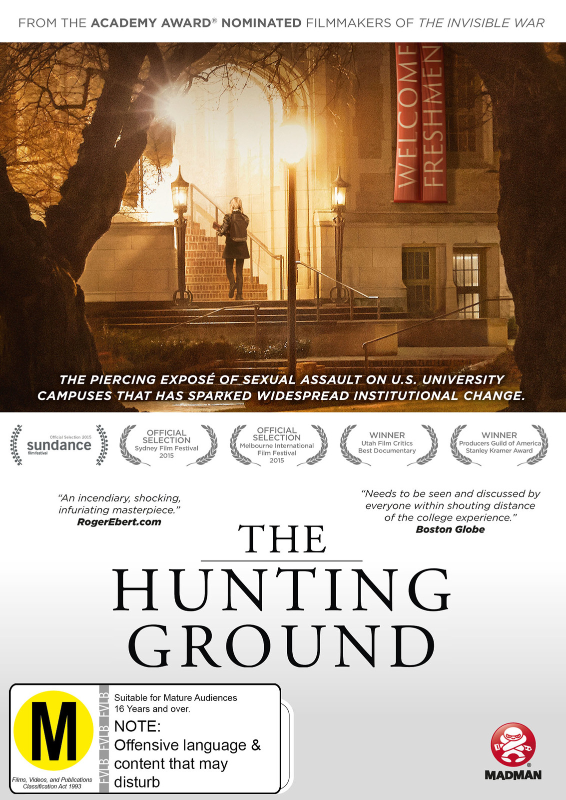 The Hunting Ground on DVD image