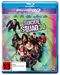 Suicide Squad - Extended Edition on Blu-ray, 3D Blu-ray, UV