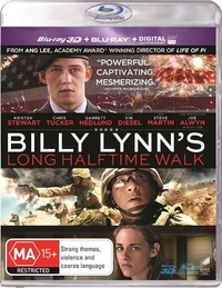 Billy Lynn's Long Halftime Walk on Blu-ray, 3D Blu-ray