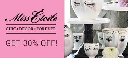 30% OFF Miss Étoile Teaware!