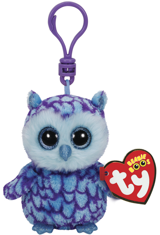 Ty Beanie Boos: Oscar Owl - Clip On Plush