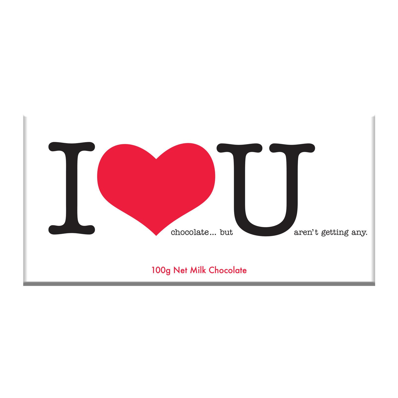 Bellaberry: I Love U Milk Chocolate (100g) image