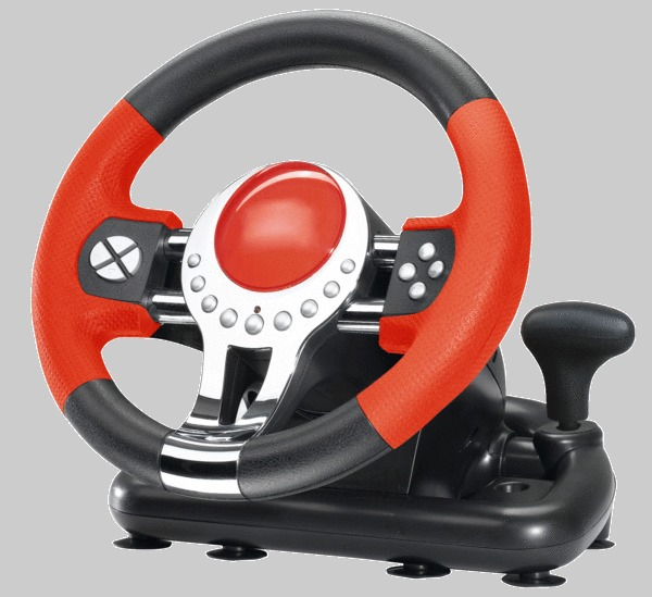 Futuretronics Wireless Steering Wheel for PlayStation 2