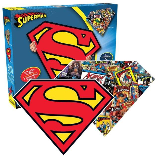 Superman Logo - 2 Sided Shaped Puzzle