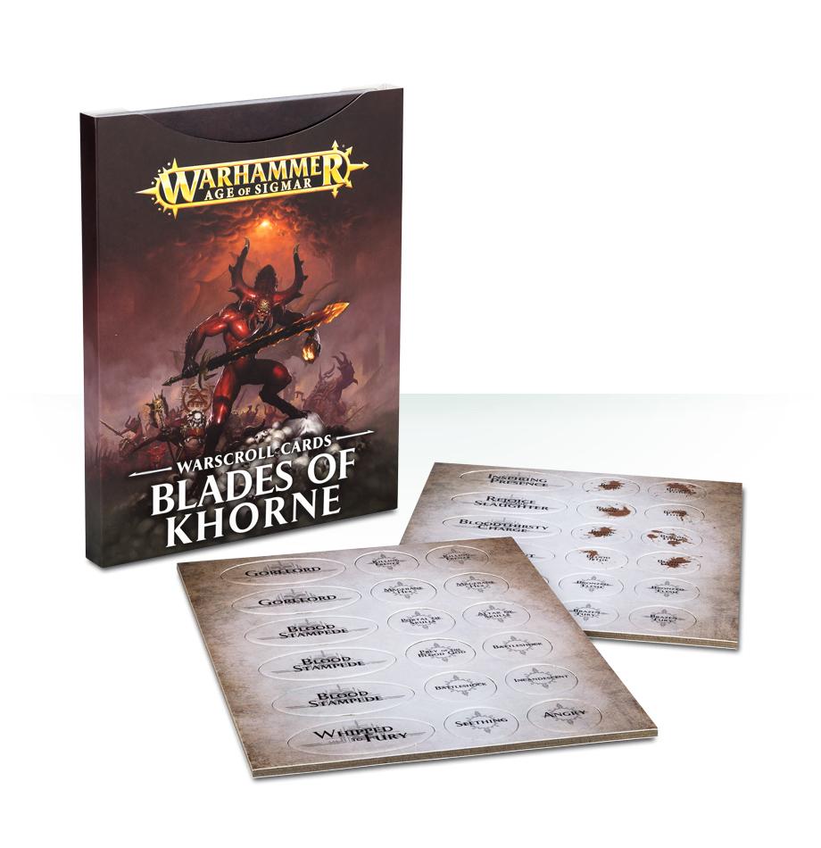 Age of Sigmar Warscroll Cards: Blades of Khorne image