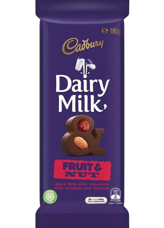 Cadbury Dairy Milk Fruit & Nut (180g)