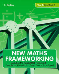 New Maths Frameworking - Year 7 Pupil Book 3 (Levels 5-6) by Kevin Evans image