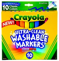 Crayola: 10 Ultra Clean Classic Broadline Markers