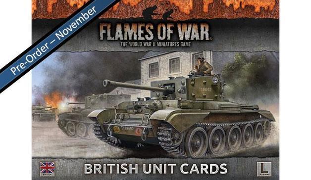 Flames of War: British Unit Cards (Late War)