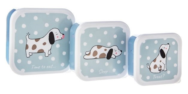 Sass & Belle: Barney The Dog Lunch Boxes - (Set Of 3)