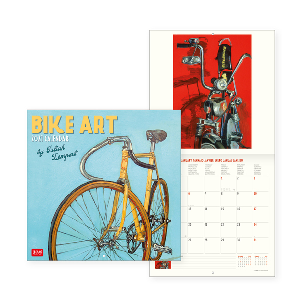 Legami: Bike Art 2021 Wall Calendar (30 x 29cm)