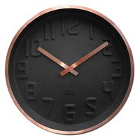 Deluxe Copper Rim Curve Clock - Charcoal image