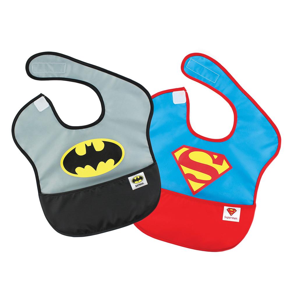 DC Comics Super Bib 2 Pack - Batman & Superman image