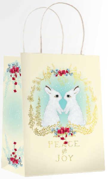 Papaya: Snow Bunnies Christmas Gift Bag
