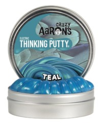 Crazy Aarons Thinking Putty: Mini Tin - Electric Teal