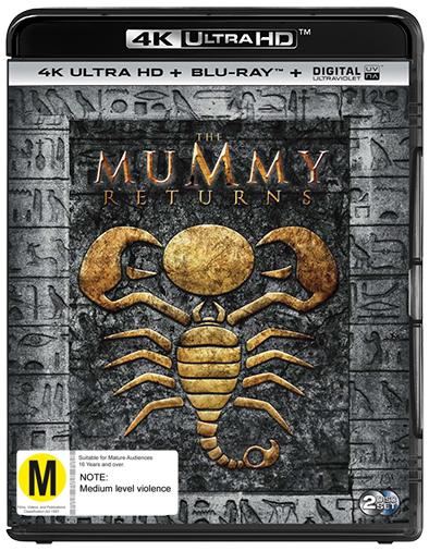 The Mummy Returns on Blu-ray, UHD Blu-ray
