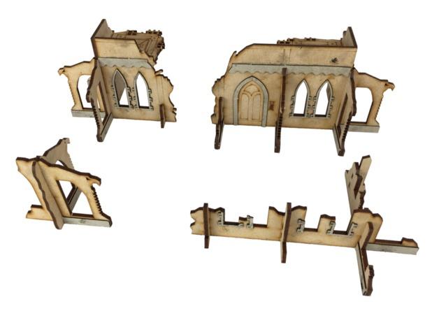TTCombat: Tabletop Scenics - Gothic Corner Ruins C