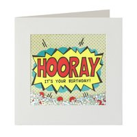 Hooray Birthday Shakies Card